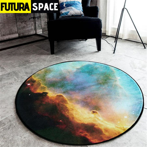 SPACE CARPET - 3D Galaxy Star - No-4 / Diameter 60cm -