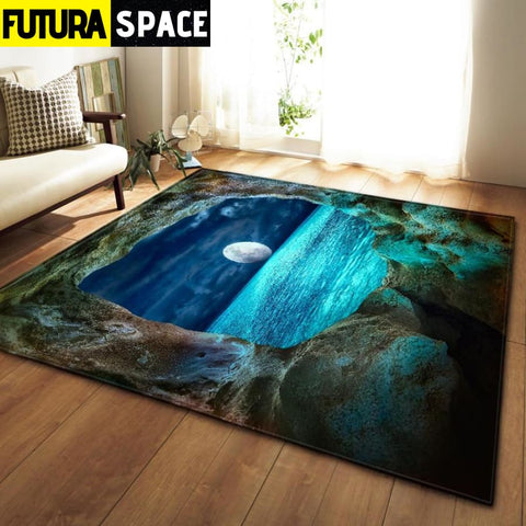 SPACE CARPET - 3D Printed Area - No-9 / 152x99cm - 100000392