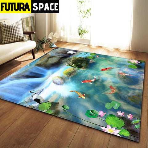 SPACE CARPET - 3D Printed Area - No-10 / 152x99cm -