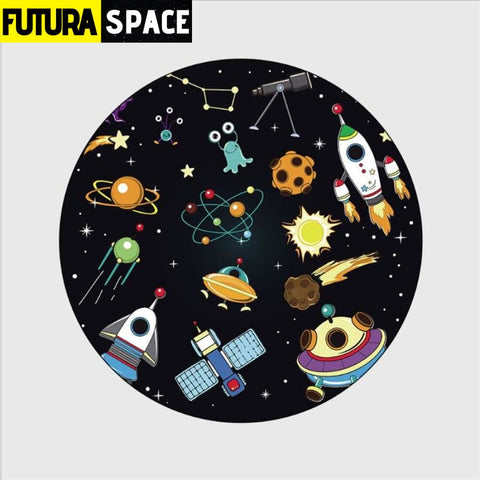 SPACE CARPET - Cartoon Planet - 1 / 40cm diameter -