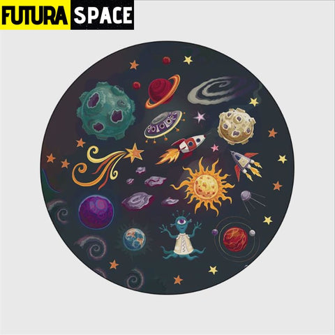 SPACE CARPET - Cartoon Planet - 3 / 40cm diameter -