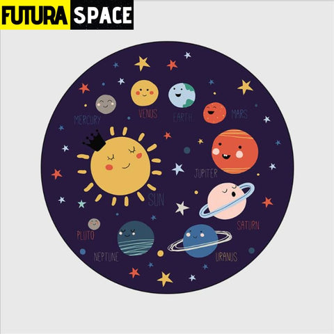 SPACE CARPET - Cartoon Planet - 4 / 40cm diameter -