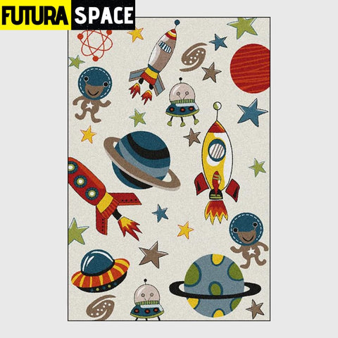SPACE CARPET - Cartoon Spaceship - As picture / 40x60cm -