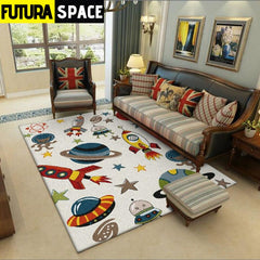 SPACE CARPET - Cartoon Spaceship