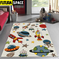 SPACE CARPET - Cartoon Spaceship - 100000392