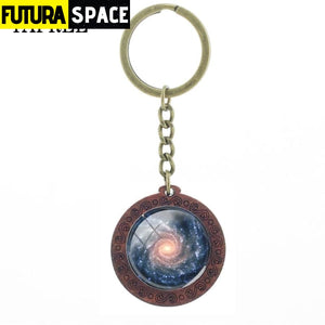 Space Glass Cabochon Keyring - 200000174