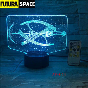SPACE LAMP - Led Spaceship - 39050508