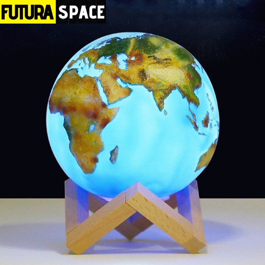 SPACE LAMP - Planet Earth Moon - 39050508