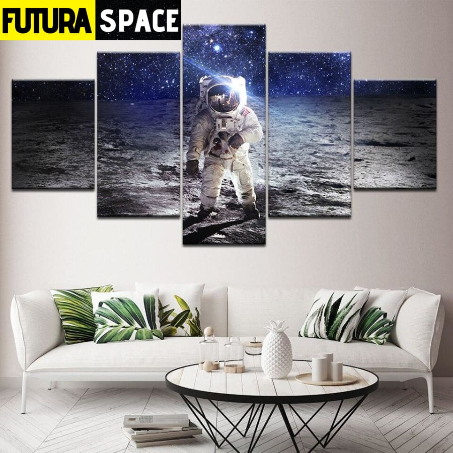SPACE PAINTING - 5 Panel Astronauts - 1704
