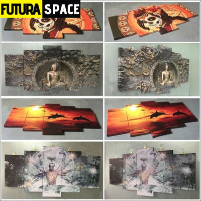 SPACE PAINTING - 5 Piece astronaut - 1704
