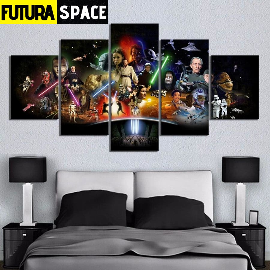 SPACE PAINTING - 5 Piece Star Wars Movie - 1704