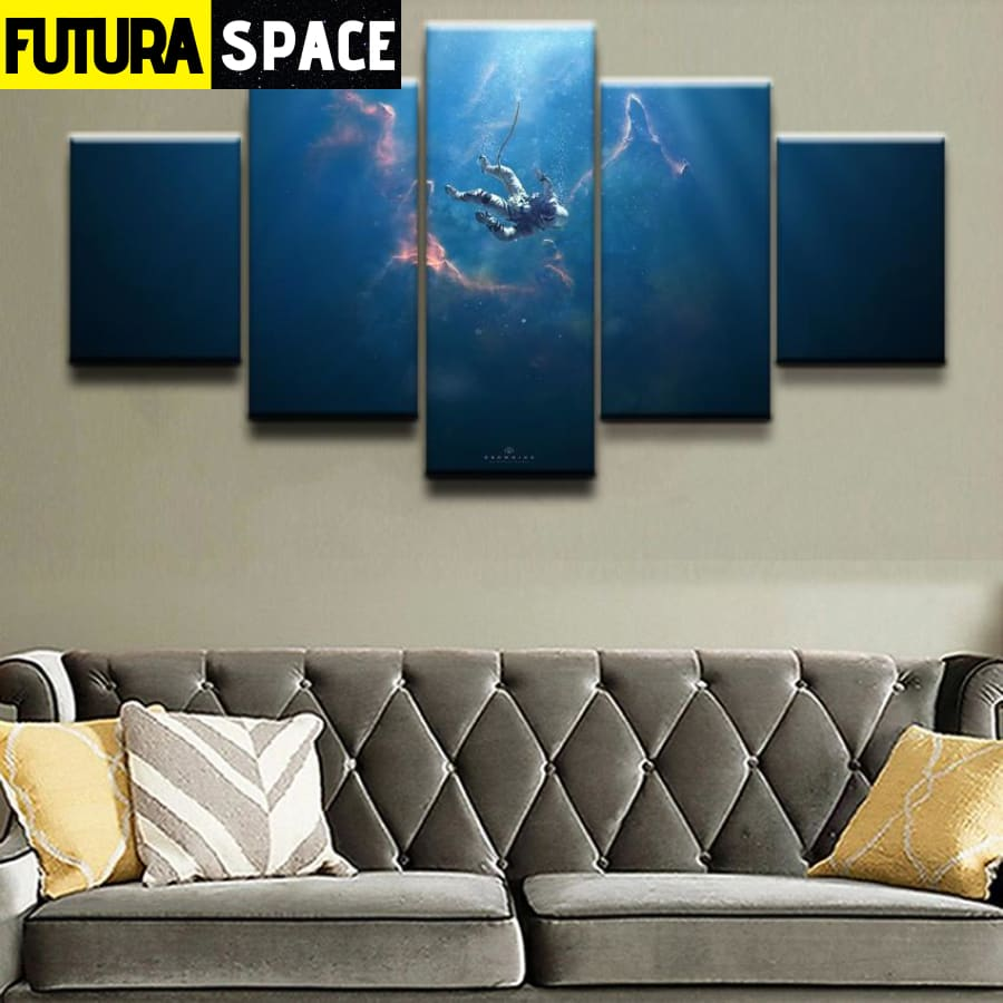 SPACE PAINTING - 5 Pieces Astronaut Sci Fi - 1704