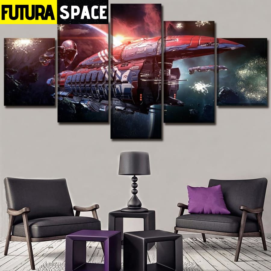 SPACE PAINTING - 5 Pieces Game EVE Online - 1704