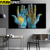 SPACE PAINTING - Abstract Earth Décoration - 1704