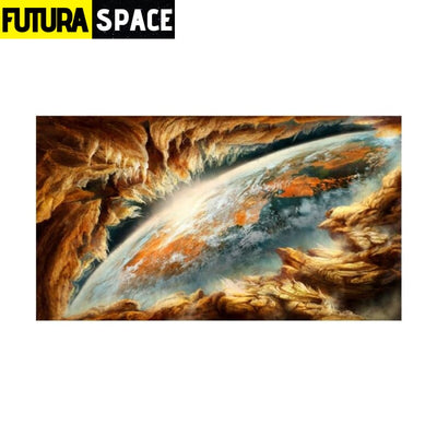 SPACE PAINTING - Abstract Earth - 20x35cm No Frame / earth