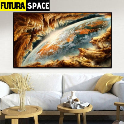 SPACE PAINTING - Abstract Earth - 1704