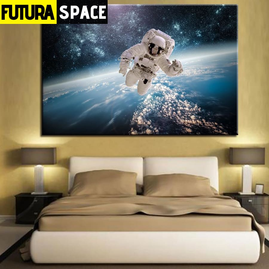 SPACE PAINTING - Astronaut Artwork - 1704