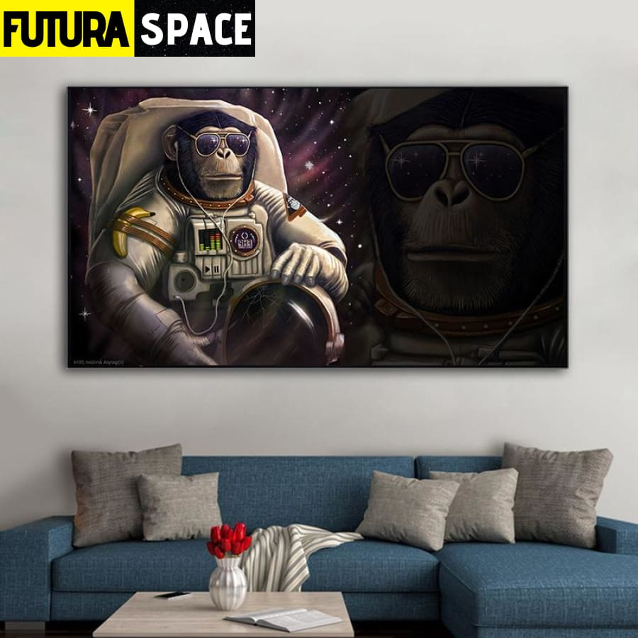 SPACE PAINTING - Astronaut Monkey - 1704