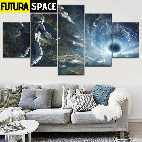 SPACE PAINTING - Astronaut Tunnel - 1704