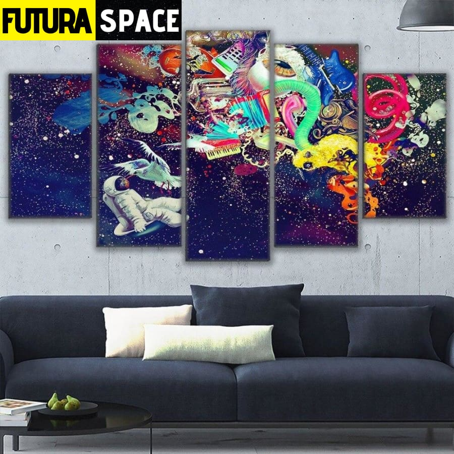SPACE PAINTING - Astronauts Marvelous - 1704