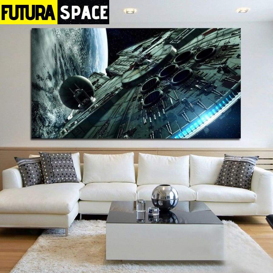 SPACE PAINTING - Canvas Art Spaceship - 1704