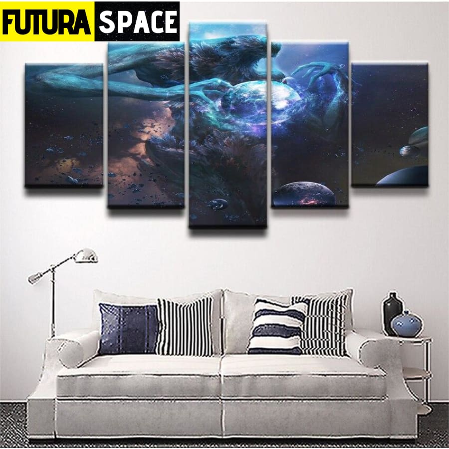 SPACE PAINTING - Creature Planet - 1704