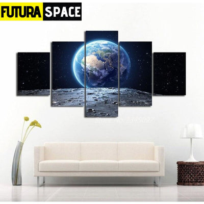 SPACE PAINTING - Earth Scape - 1704