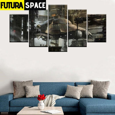 SPACE PAINTING - HD Spacecraft Canvas - 1704
