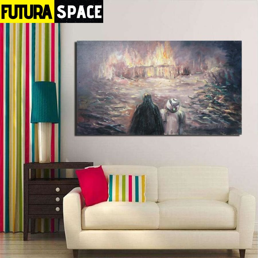 SPACE PAINTING - Jedi Temple - 1704