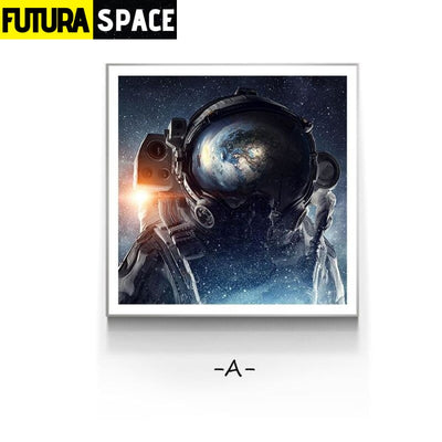 SPACE PAINTING - Modern Space Planet - 40x40cm(No frame) / A