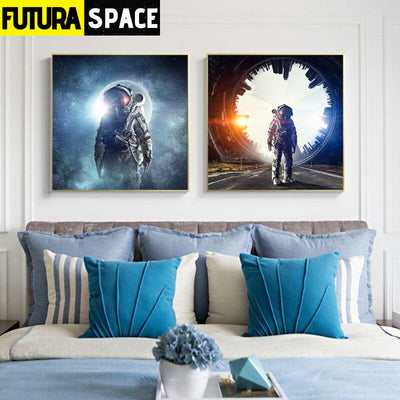 SPACE PAINTING - Modern Space Planet - 1704
