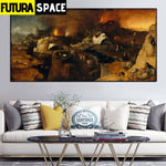 SPACE PAINTING - ORIGIN WALL ART - 8X16 / 54 - 1704