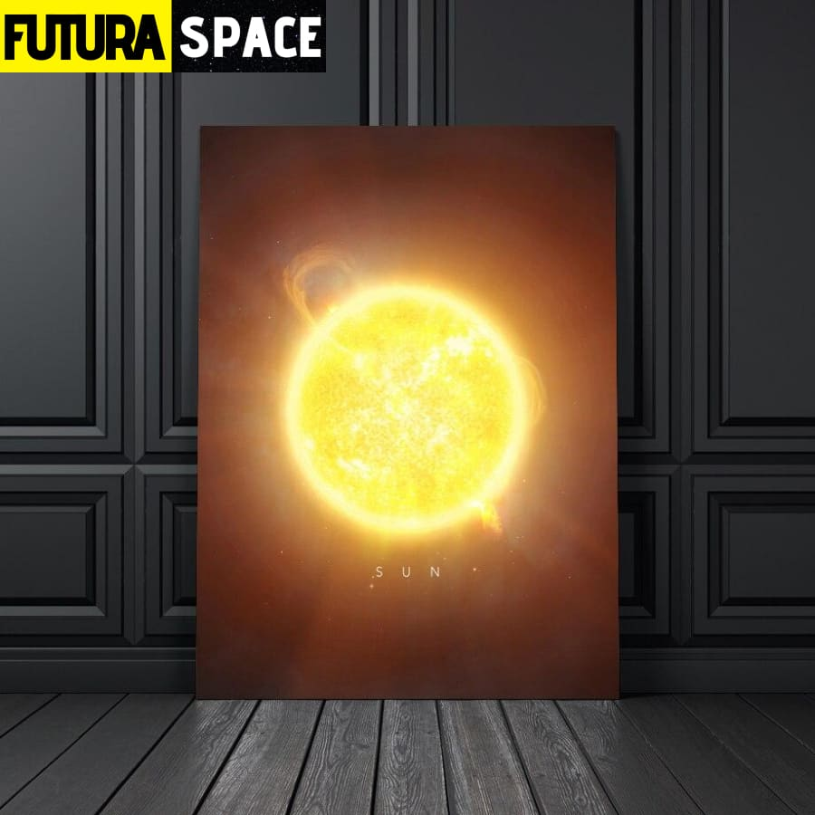 SPACE PAINTING -  PLANET WALL ART