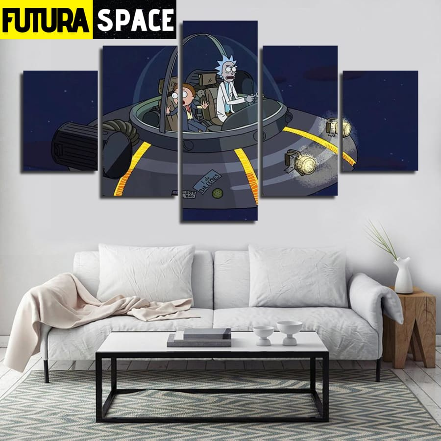 SPACE PAINTING - RICK AND MORTY - 1704