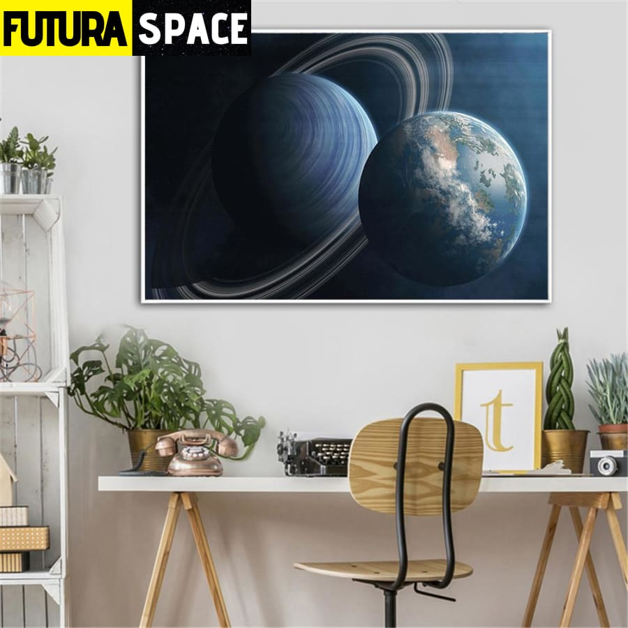 SPACE PAINTING - SATELITTE - 1704