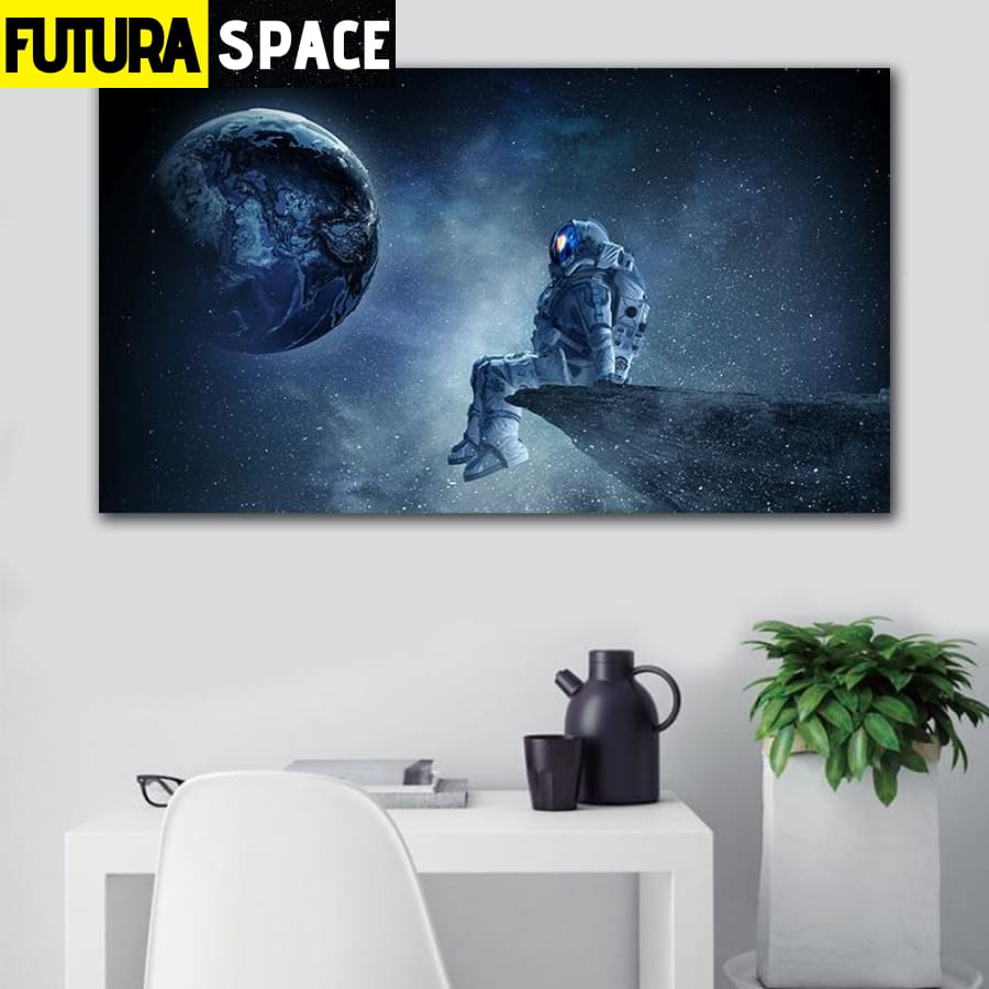 SPACE PAINTING - Sci-fi Space Planet - 1704
