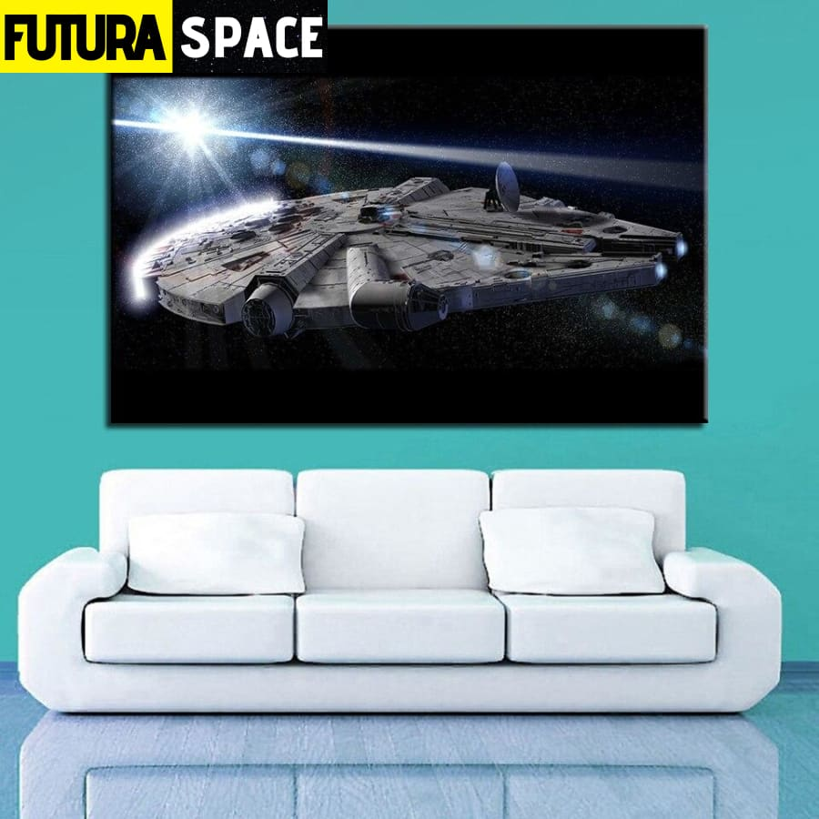 SPACE PAINTING - SPACESHIP CANVAS - 1704