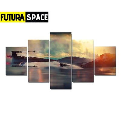SPACE PAINTING - SPACESHIP WALL ART - A 10x15 10x20 10x25 /
