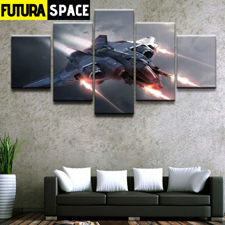 SPACE PAINTING - Wall Art 5 Pieces Game - 1704