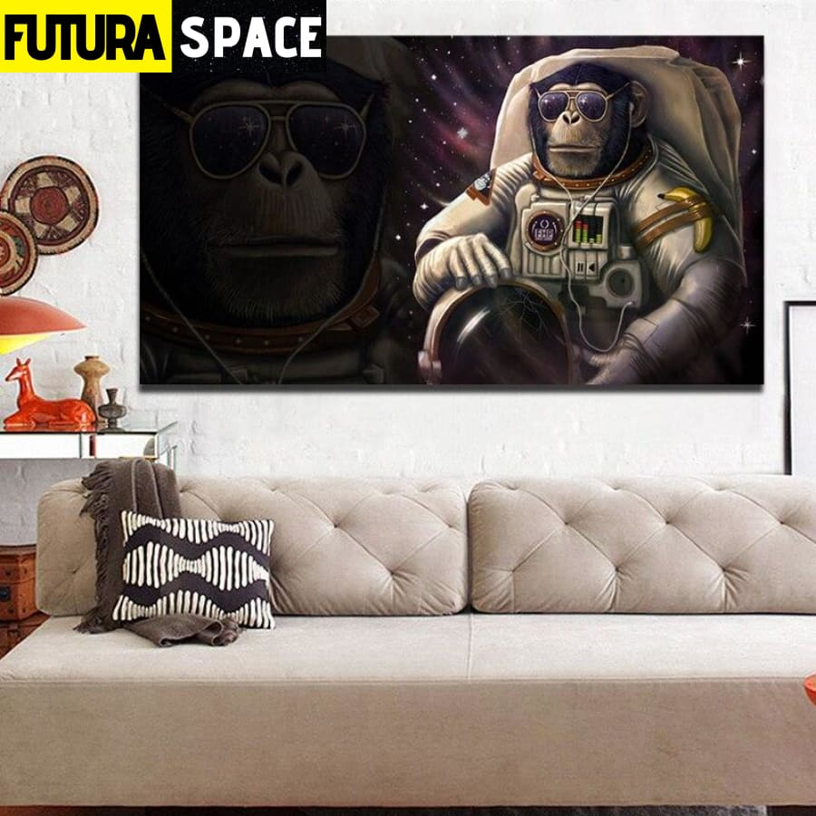 SPACE PAINTING - Wall Art Astronaut - 1704