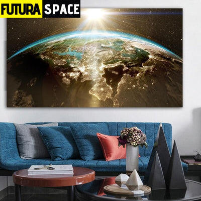 SPACE PAINTING - WALL ART EARTH - 1704
