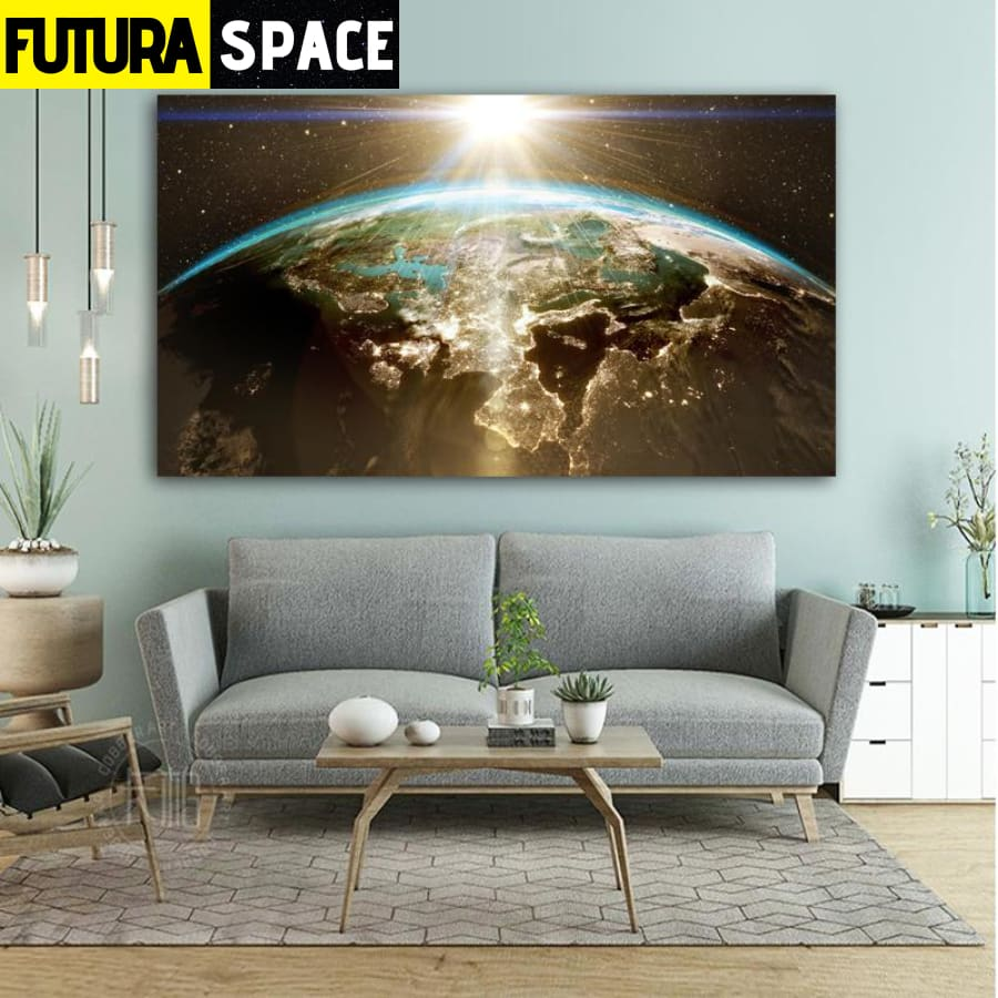 SPACE PAINTING - WALL ART EARTH