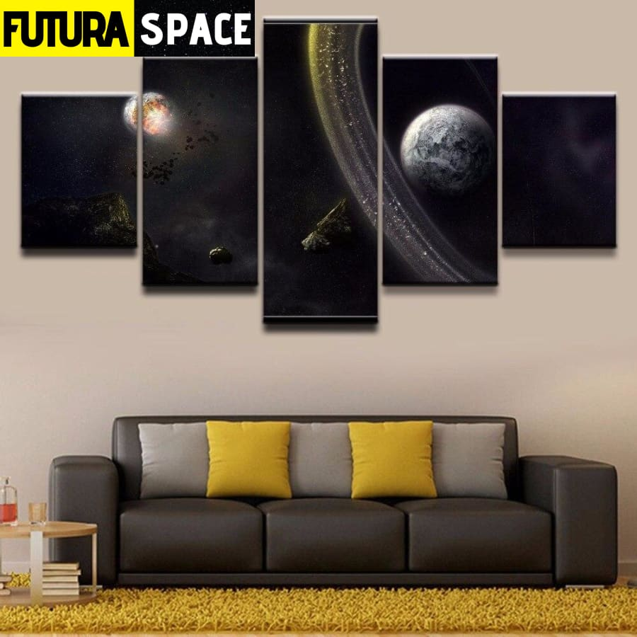SPACE PAINTING - WALL ART FRAME