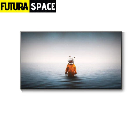 SPACE PAINTING - Wall Art - 70X40cm No Frame / A - 1704