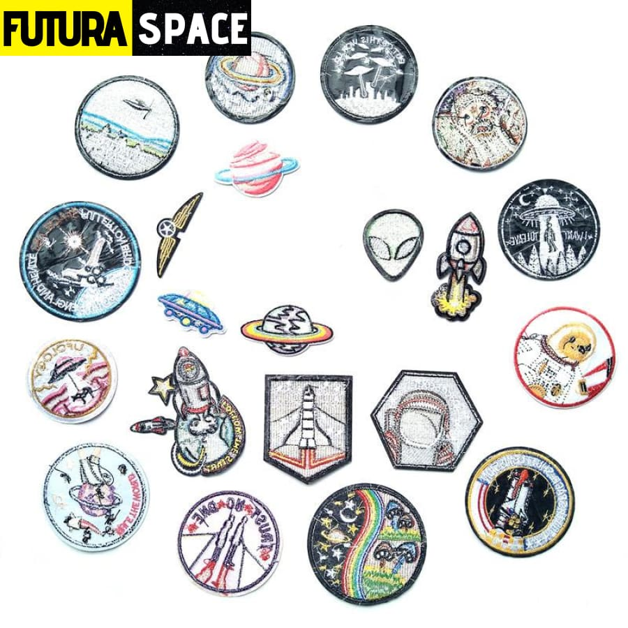 SPACE PATCH - 1 PCS Alien UFO Embroidery Patches - 100005735