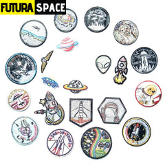 SPACE PATCH - 1 PCS Alien UFO Embroidery Patches