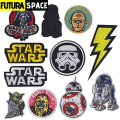 SPACE PATCH - 1PCS Movie Star Wars Robot Embroidered -