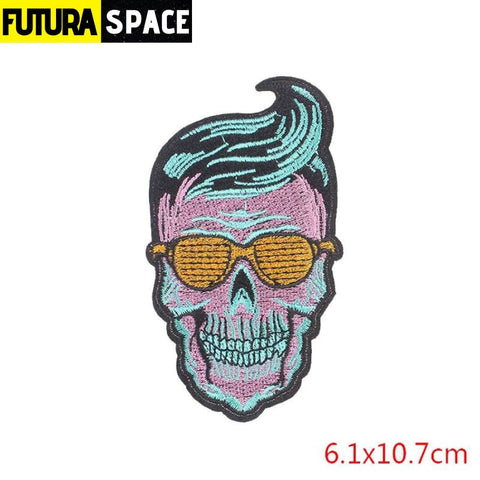 SPACE PATCH - Space Skull - Antique Brass - 100005735