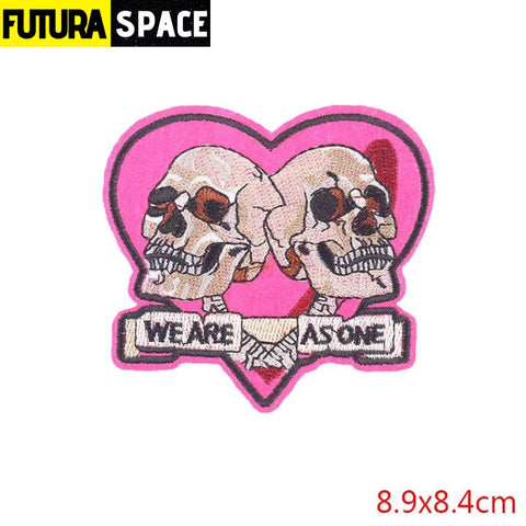 SPACE PATCH - Space Skull - Antique Silver - 100005735