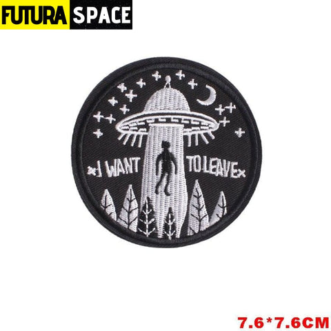SPACE PATCH - Space Skull - Brass - 100005735